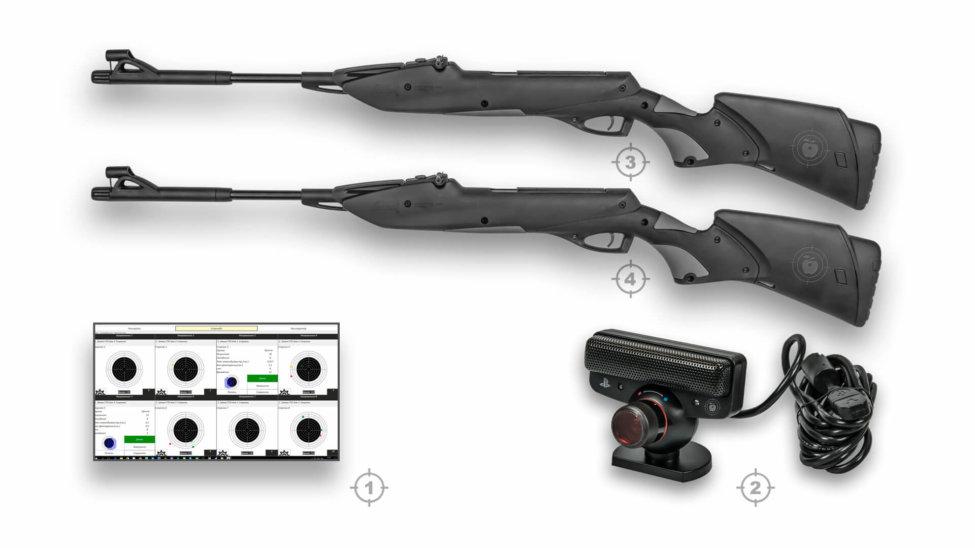 Лазерный тир электронный ⋆ТИР ЭЛЕКТРОН⋆ комплект 3